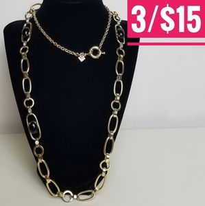 Banana Republic Gold Link Cabochon Chain Necklace